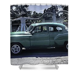 Cuba Car 8 Shower Curtain