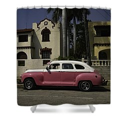 Cuba Car 9 Shower Curtain