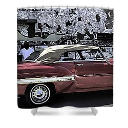 Cuba Cars 2 Shower Curtain