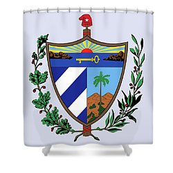 Cuba Coat Of Arms Shower Curtain by Movie Poster Prints