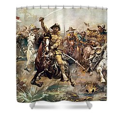 Cuba: Rough Riders, 1898 Shower Curtain