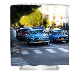Cuba Street Scene Shower Curtain