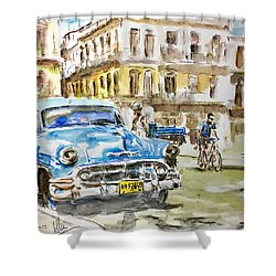Cuba Today Or 1950 ? Shower Curtain