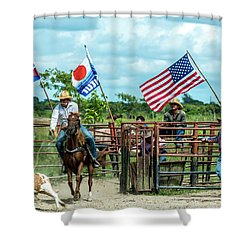 Cuban Cowboys Shower Curtain
