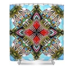 Cuban Kaleidoscope Shower Curtain