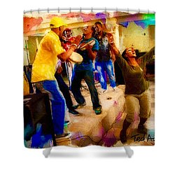 Cuban Music Shower Curtain