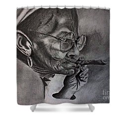 Cuban Old Lady Shower Curtain