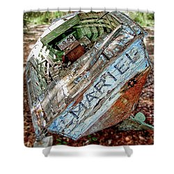 Cuban Refugee Boat 3 The Mariel Shower Curtain
