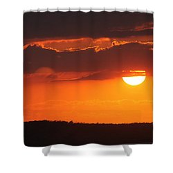 Cuban Sunset Shower Curtain