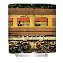 Cuban Train Shower Curtain