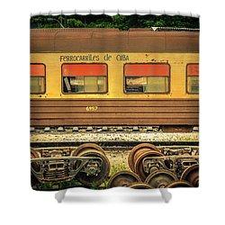 Cuban Train Shower Curtain