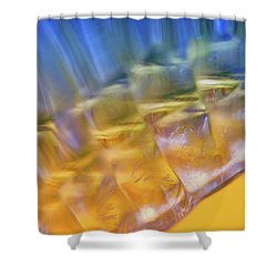Cubes Of Light Shower Curtain by Dennis Baswell
