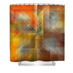 Shower Curtain featuring the photograph Cubic Space by Mark Greenberg