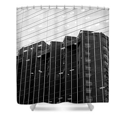 Shower Curtain featuring the photograph Cubicle Farm by Valentino Visentini