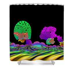 Cubistrain Shower Curtain