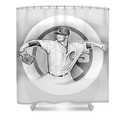 Cubs 2016 Shower Curtain by Greg Joens