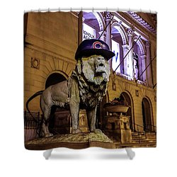 Cubs Lion Hearts Shower Curtain