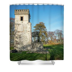 Cuchulains Castle Shower Curtain by Marty Garland