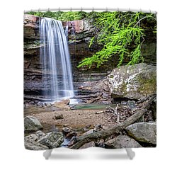 Cucumber Falls Shower Curtain