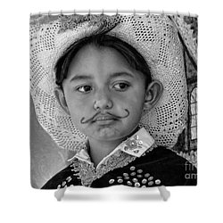 Shower Curtain featuring the photograph Cuenca Kids 883 by Al Bourassa