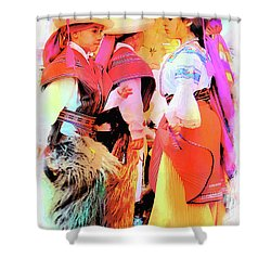 Shower Curtain featuring the photograph Cuenca Kids 884 by Al Bourassa