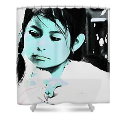 Shower Curtain featuring the photograph Cuenca Kids 886 by Al Bourassa
