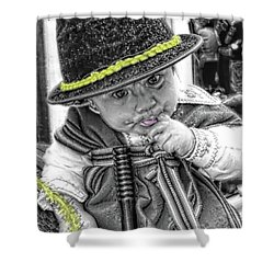 Shower Curtain featuring the photograph Cuenca Kids 888 by Al Bourassa