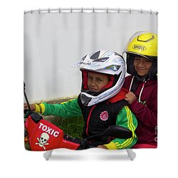 Shower Curtain featuring the photograph Cuenca Kids 889 by Al Bourassa