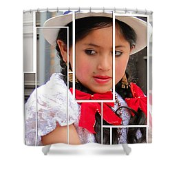 Shower Curtain featuring the photograph Cuenca Kids 890 by Al Bourassa