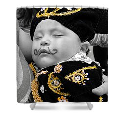 Shower Curtain featuring the photograph Cuenca Kids 891 by Al Bourassa