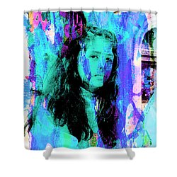 Shower Curtain featuring the photograph Cuenca Kids 892 by Al Bourassa