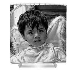 Shower Curtain featuring the photograph Cuenca Kids 893 by Al Bourassa