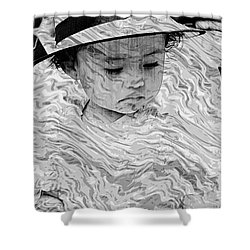 Shower Curtain featuring the photograph Cuenca Kids 894 by Al Bourassa