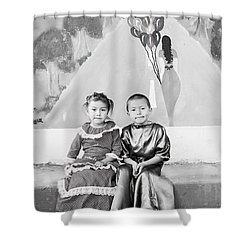 Shower Curtain featuring the photograph Cuenca Kids 896 by Al Bourassa