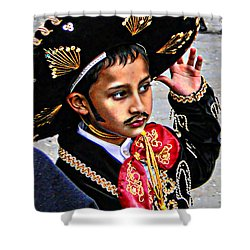 Shower Curtain featuring the photograph Cuenca Kids 897 by Al Bourassa