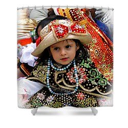 Shower Curtain featuring the photograph Cuenca Kids 900 by Al Bourassa