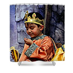 Shower Curtain featuring the photograph Cuenca Kids 903 by Al Bourassa