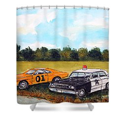 Cuff Em N Stuff Em Shower Curtain by Tim Ross