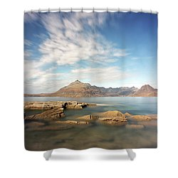 Cuillin Mountain Range Shower Curtain