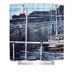 Cullen Beacon Shower Curtain by Trudy Kepke