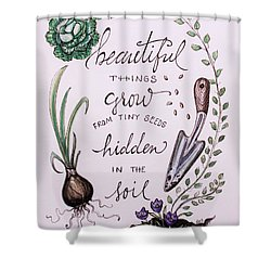 Cultivate Shower Curtain by Elizabeth Robinette Tyndall