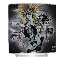 Cultural Affair Shower Curtain by Carla Carson