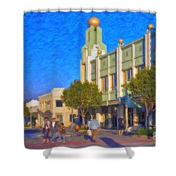 Culver City Plaza Theaters   Shower Curtain by David Zanzinger