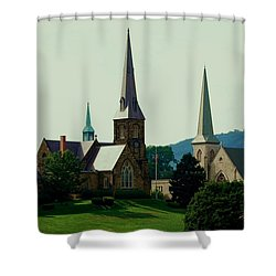 Cumberands Steeples Shower Curtain by Eric Liller