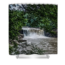 Shower Curtain featuring the photograph Cumberland Falls by Joann Copeland-Paul