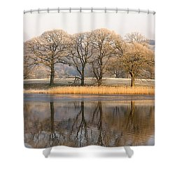 Cumbria, England Lake Scenic With Shower Curtain by John Short