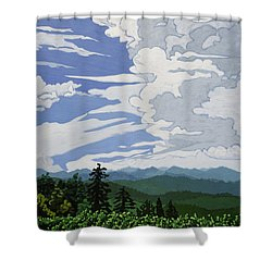 Cumulonimbus Afternoon Shower Curtain