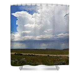 Cumulonimbus Rain Cloud Shower Curtain