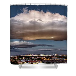 Shower Curtain featuring the photograph Cumulus Las Vegas by Michael Rogers