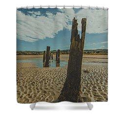 Cunnigar Groynes 3 Shower Curtain
